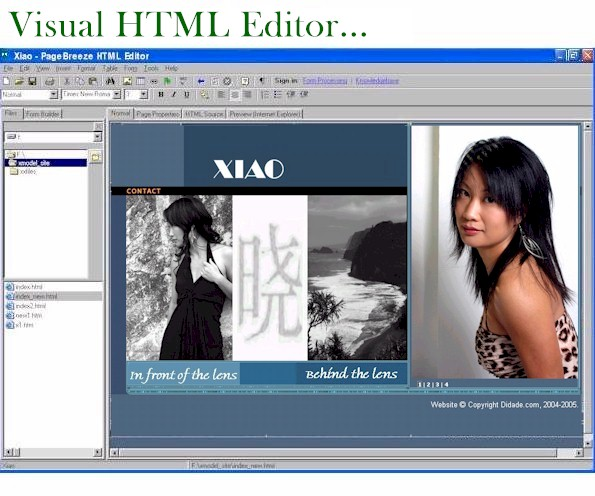 Click to view PageBreeze Free HTML Editor 4.0e screenshot